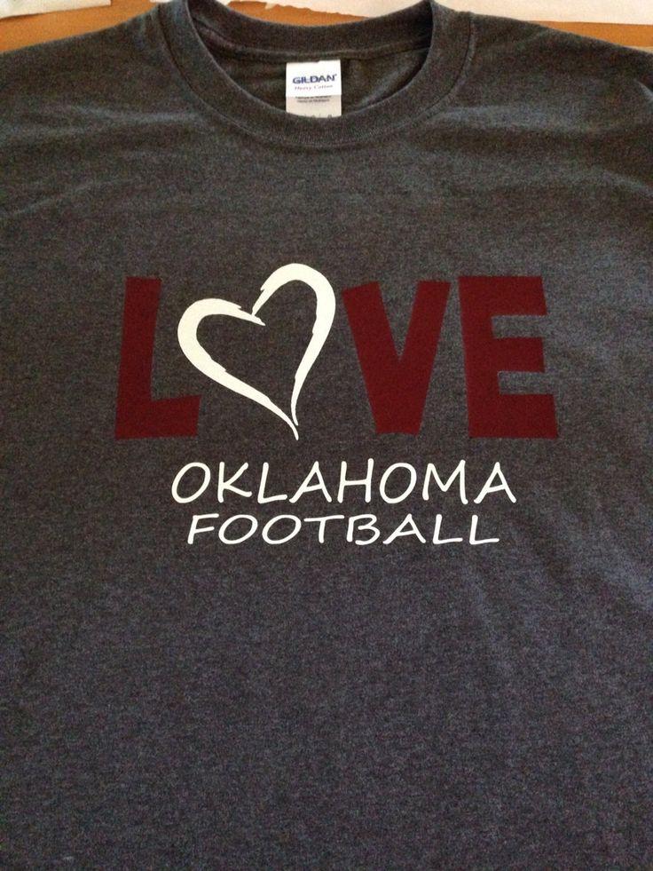 LOVE Oklahoma Football OU Sooners T-Shirt Glitter - pinned by pin4etsy.com