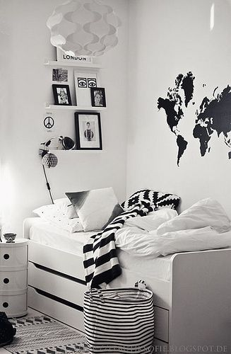 Fun Kids Room with map wall sticker. #WallSticker #KidsRoom