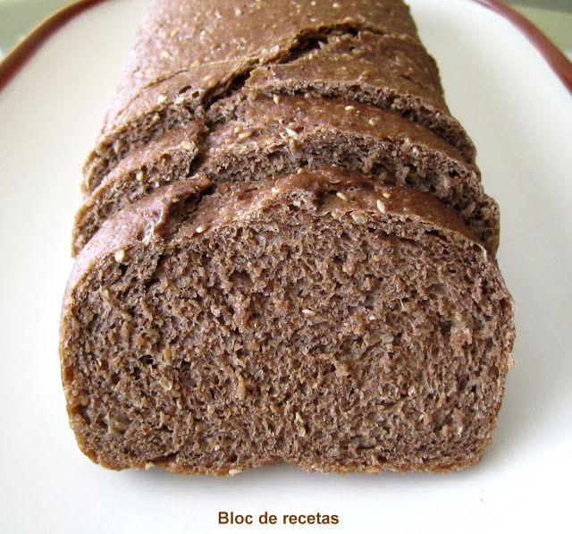 Bloc de recetas: Pan de molde de centeno 100 % integral