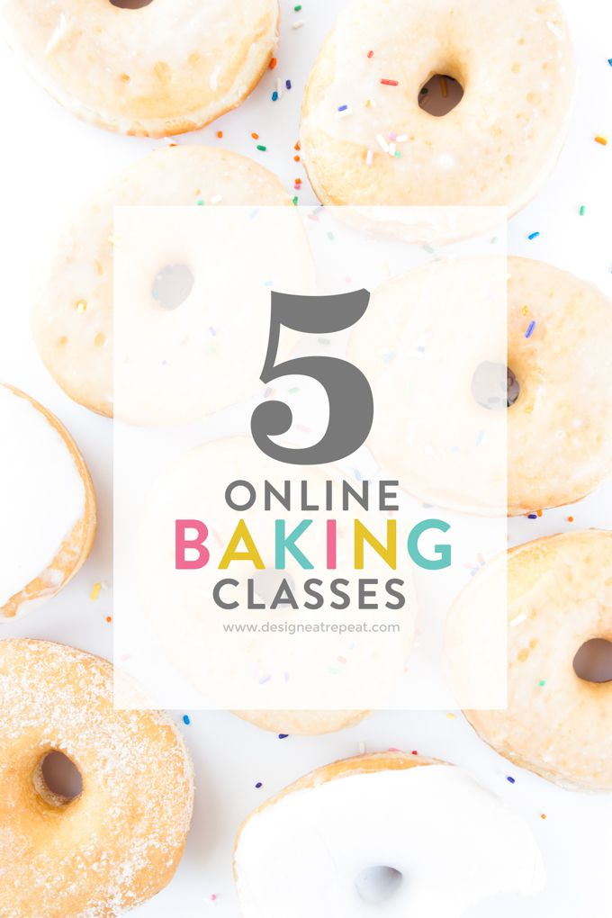 Learn some new baking skills without having to leave your couch! This is a fun list of online baking classes (ahem...donuts, cake pops!) by food & DIY blogger Melissa at Design Eat Repeat!