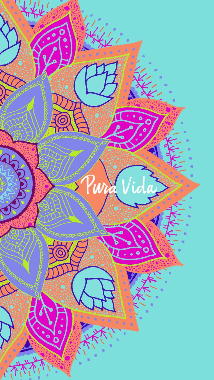 Wallpaper iphone mandala - Pura Vida