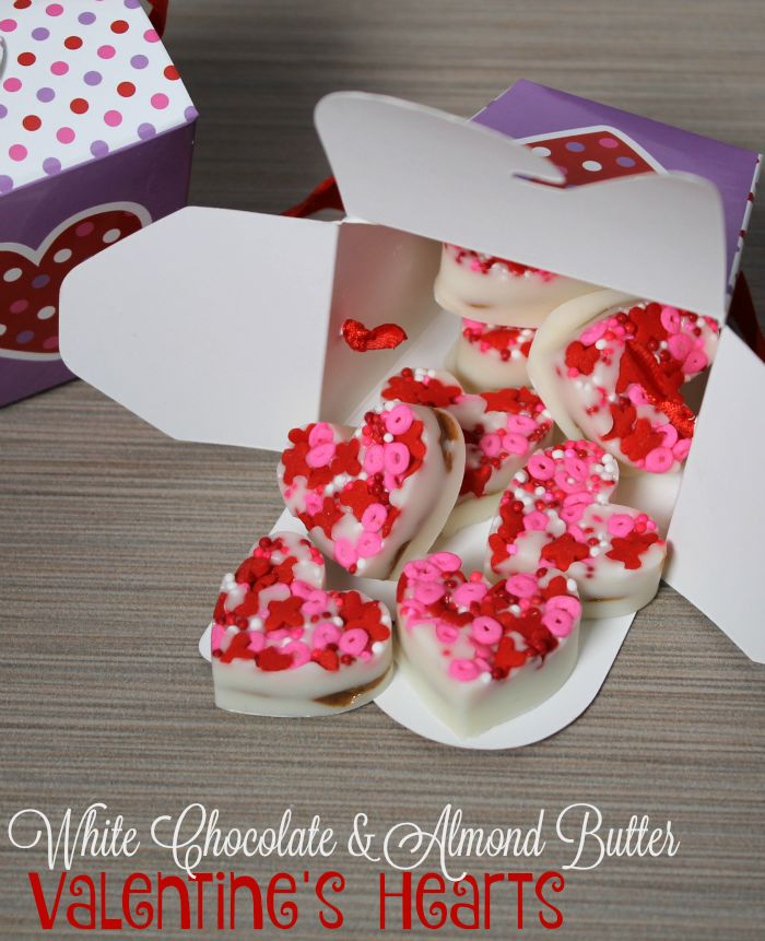 White Chocolate & Almond Butter Valentine's Hearts [ad]