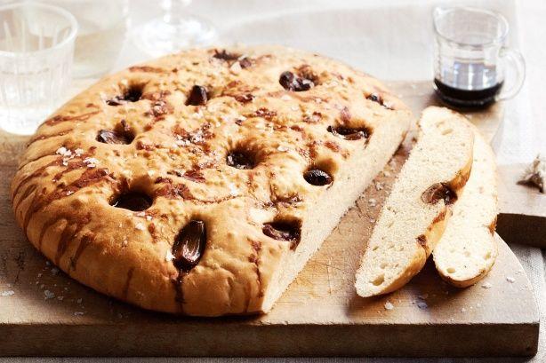 Balsamic garlic and rosemary bread