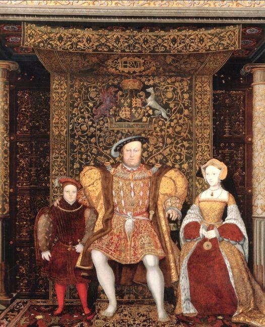 Il principe Edoardo, Enrico VIII, Jane Seymour, particolare. 1545 ca.