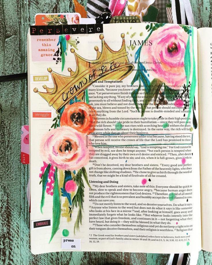 Crown of Life #illustratedfaith #biblejournaling #bibleart