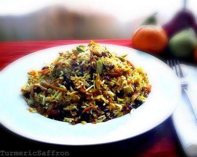 Persian Sweet Rice ( Shirin Polow)
