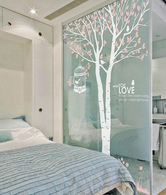 Amour Couple forêt vinyle mur autocollant mur par Isabeljia sur Etsy, $55.00