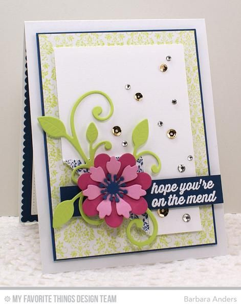 Image result for cards made using My Favorite things Prima Donna petals