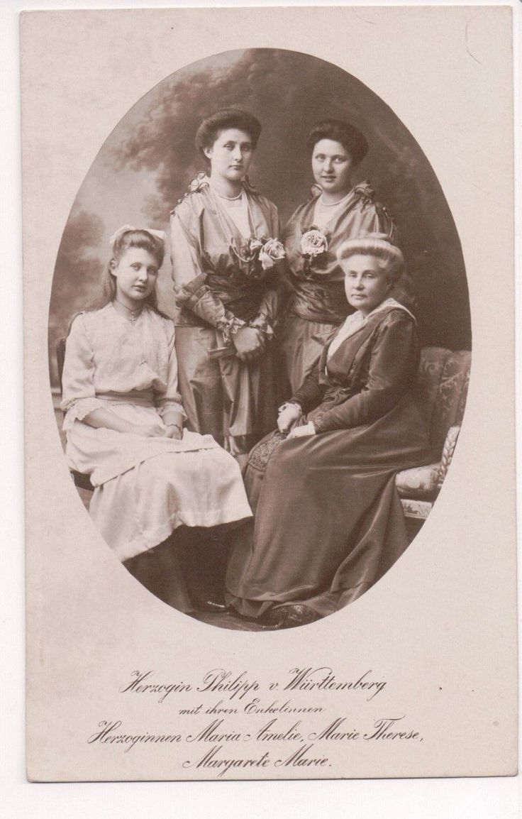 Archduchess Maria Theresa, Duchess Philipp of Württemberg with family members