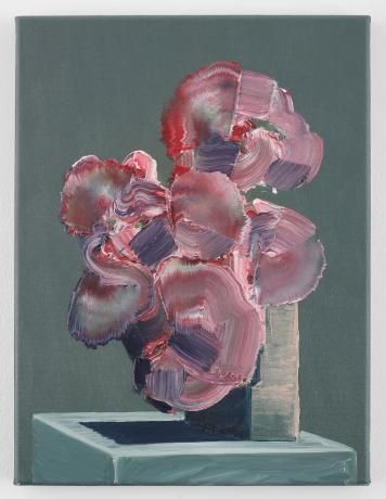 Ivan Seal 'exerthingle percists ( edgeley acid )' (2011) Oil on canvas 40 x 30 cm