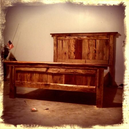 Queen Farmhouse Bed (Rough-cut lumber) | Do It Yourself Home Projects from Ana White
