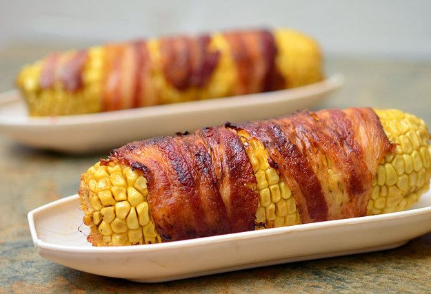 Bacon-Wrapped Corn with Chipotle-Honey Glaze