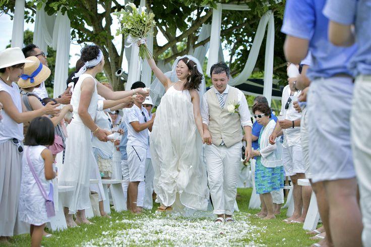 VOUS BRIDAL/wedding/ウェディング/summer/Flowershower/Flower petal/ガーデンセレモニー/Garden Ceremony/