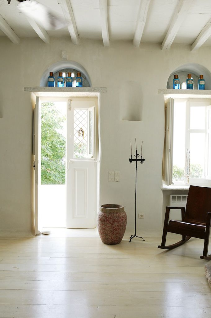 pale wood floors: Interior Design, Window, Interiors, Greece, By, Greek House, Space, Greek Islands
