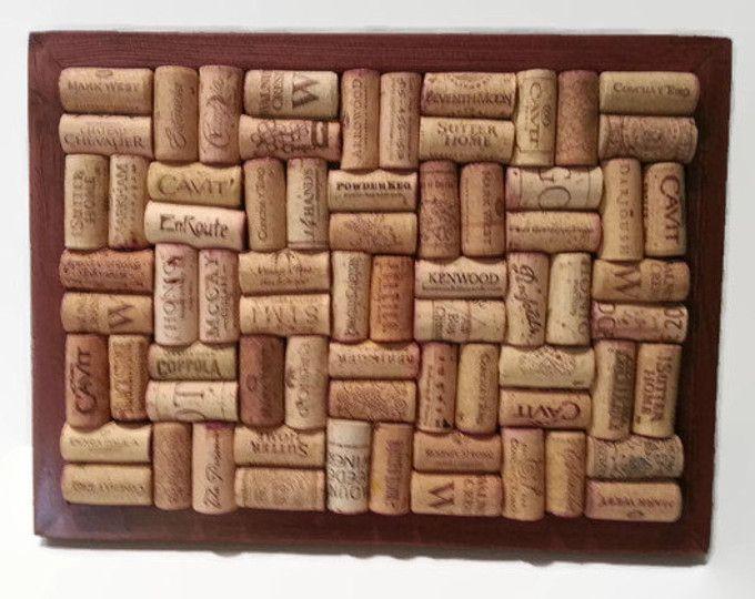 Rojo caoba - cazuela corcho del vino caliente Pad - corcho del vino Trivet - regalo tema vino - inauguración de la casa regalo - aficionado al vino - que sirve de Junta