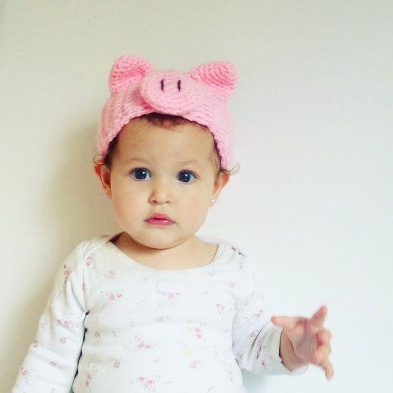 Pig Crochet Pattern Headband  PDF  head wrap animal costume