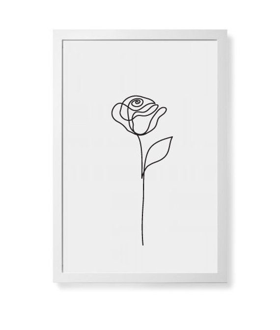 Abstract Rose flower wall art, Beauty Rose one line drawing, Minimalist art, Botanical print, Plants – ★ SIGNORE GALLUS