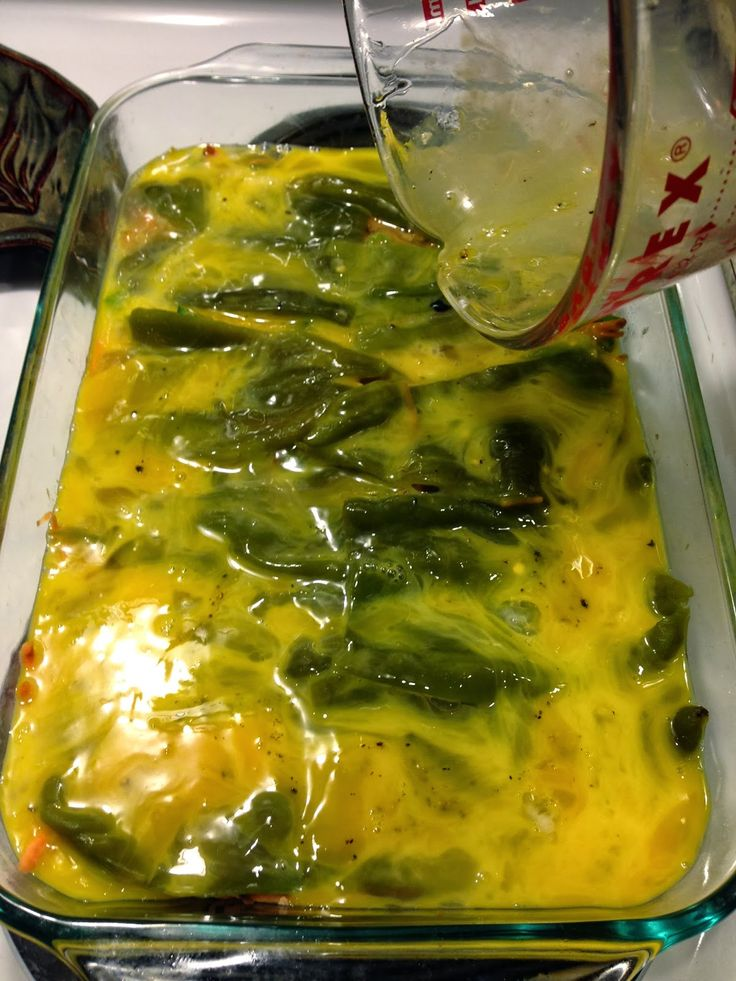 Hatch Green Chile breakfast casserole