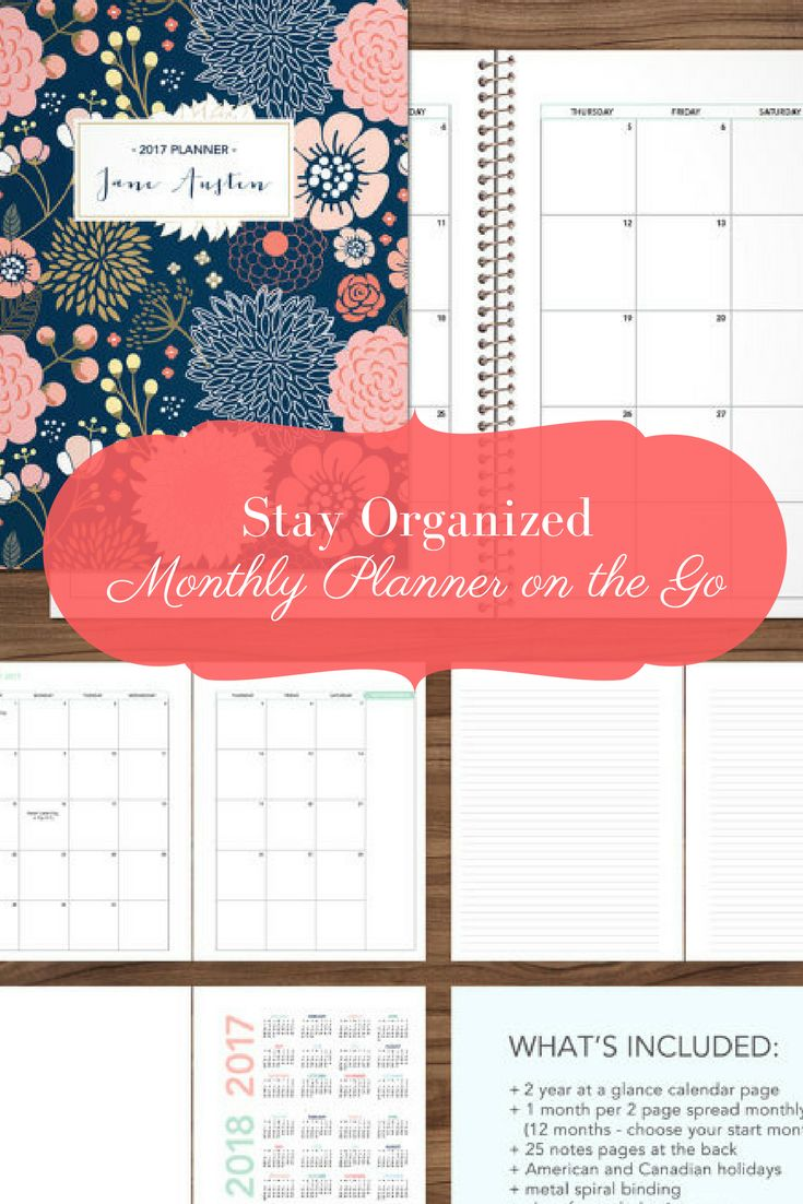Let's organize! It's not too late to get an awesome planner :) 2018 MONTHLY planner / 12 month calendar / choose your start month / 2018 2019 month at a glance planner MAG / navy pink gold floral #personaldevelopment #ad #monthlyplanner #planner #stayorganized #organization #schedule #calendario