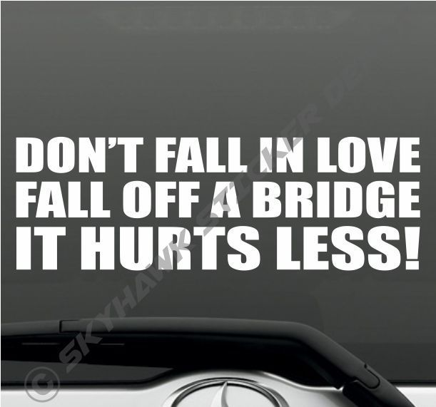 57 best car accessories images on pinterest auto accessories dont fall in love funny bumper sticker vinyl decal car truck macbook pro laptop sciox Gallery