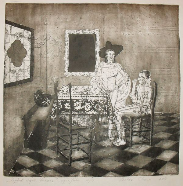 Etching works by Timea Mitroi, via Behance