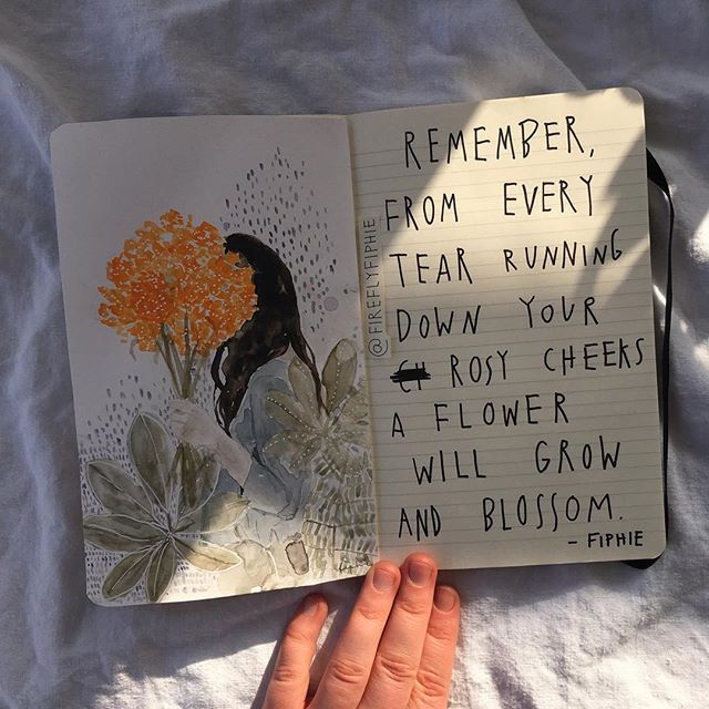 grow and blossom my dear I filmed the process of these two pages. Wanna watch it? #artbyfiphie #poetrybyfiphie Copyright Sophie Neuendorff, 2017
