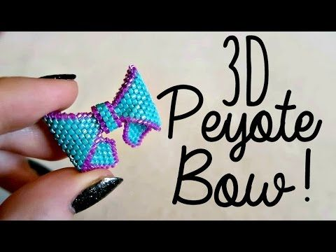 DIY 3D Beaded Bow How To! // Bead Weaving // ¦ The Corner of Craft - YouTube