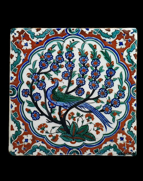 iznik bird tile
