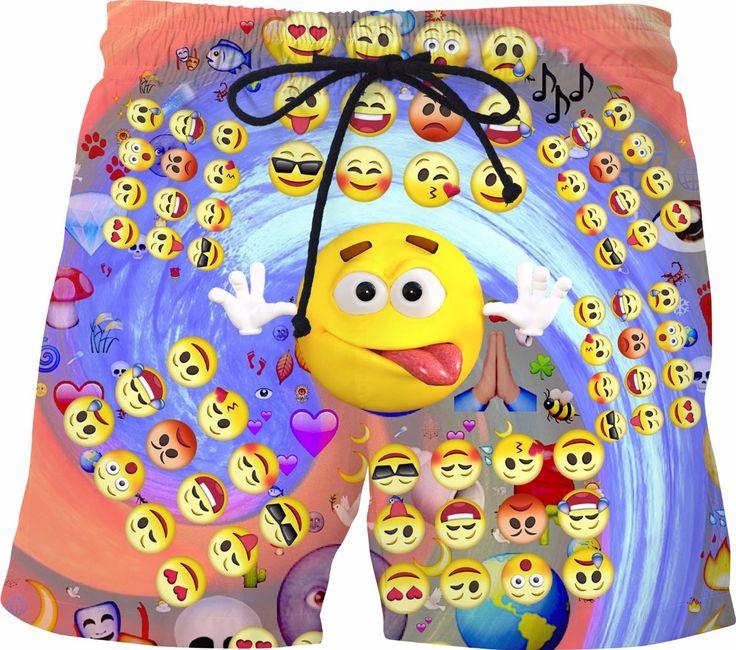 Emoji Emoticons Swim Shorts