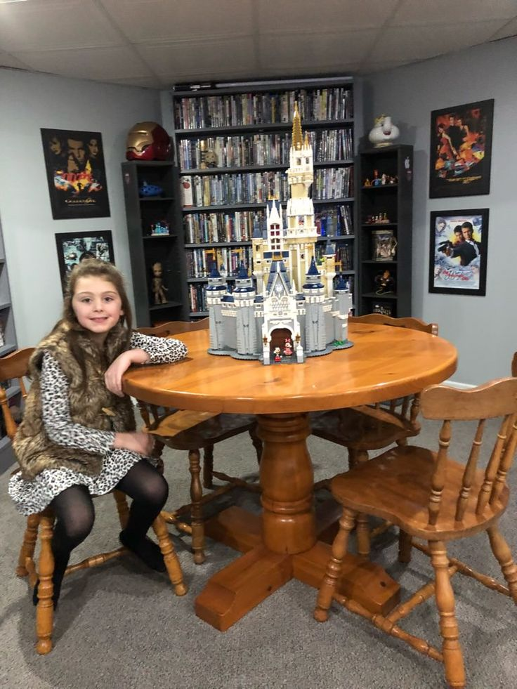 LEGO Disney Castle my daughter and I built