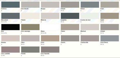 nuancier peinture grise 28 teintes pour toute la maison