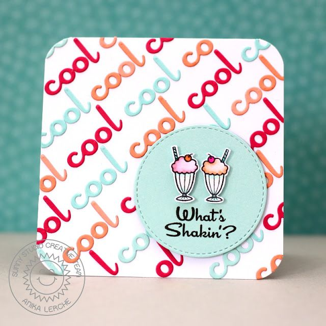 Sunny Studio Stamps: Sock Hop What's Shakin' Ice Cream Soda Card by Anni Lerche.