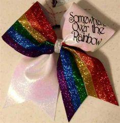 Wizard of oz cheer bow rainbow