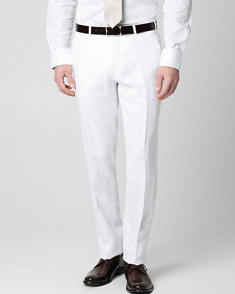 Pantalon à jambe droite en lin - Le Château