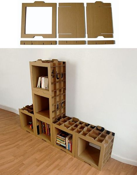 Best 20 cardboard recycling ideas on pinterest alice in for Diy modular bookcase