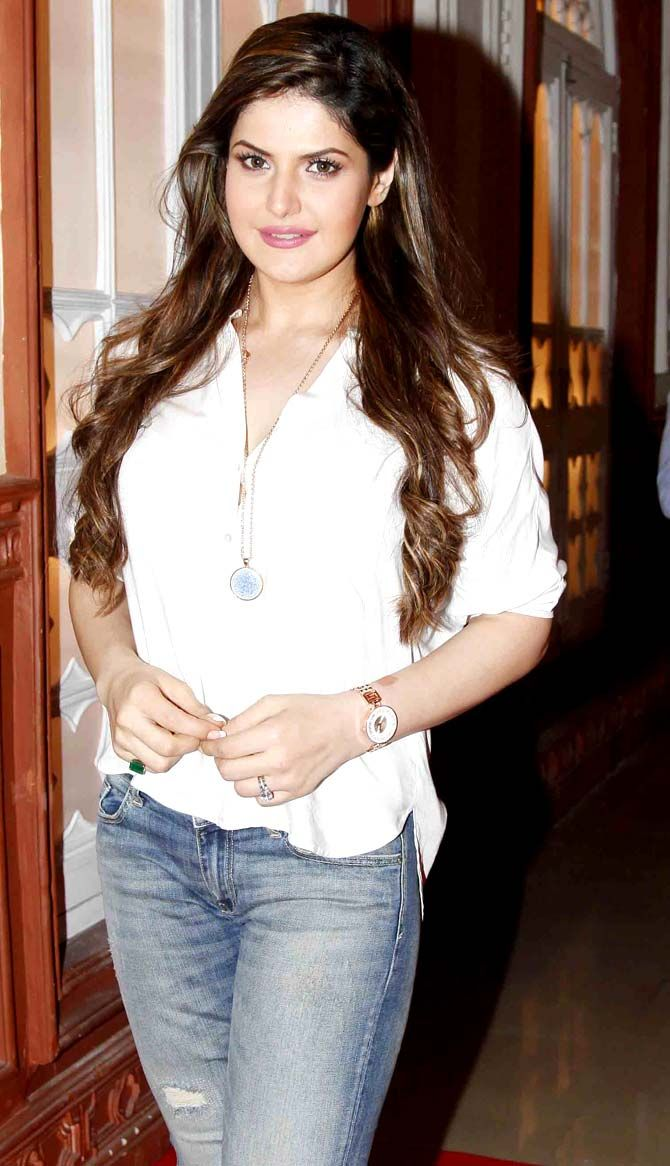 Zarine Khan on first day shoot of 'Hate Story 3'.