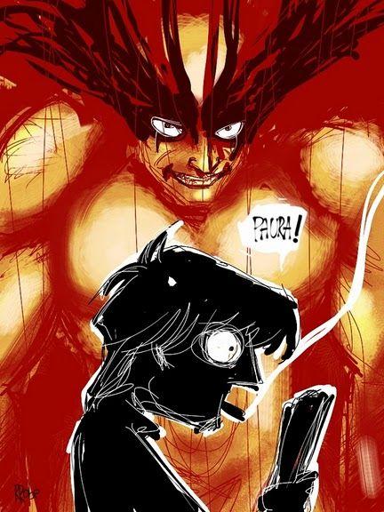 Devilman disegnato con l'iPhone