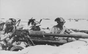 "Fascist Italian Bersaglieri, ""sharpshooters"", in N-Africa 1942. Manning the 47/32mm AT/AP gun."