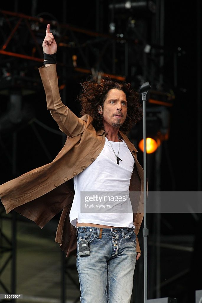 Chris Cornell performs live on day one of the 40th Pinkpop Festival at Megaland on May 30, 2009 in Landgraaf, Netherlands.