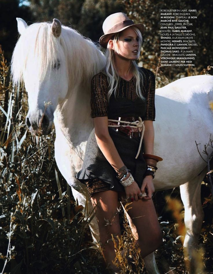www.pegasebuzz.com | The horse fashion : Linnea Regnander by Cécile Bortoletti for ELLE France, august 2013