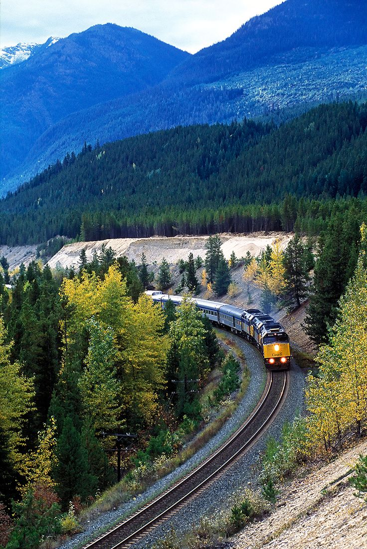 7 of the World's Longest Train Rides  The Canadian Distance: 2,792 miles Duration: Approximately three days Luckily, what you'll see—snow-capped Rocky Mountains, the forest of the Canadian Shield, and the rest of Canada's strikingly empty landscape