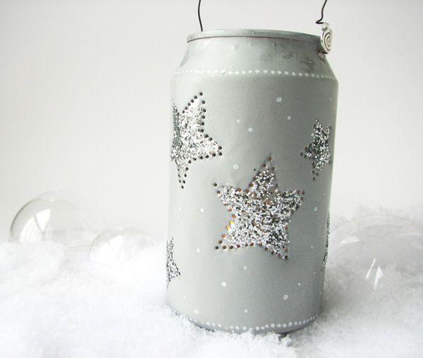Créer un lampion photophore en recyclant une canette - a light from just a can!
