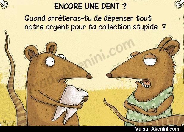 Images Fun N°8978 - La souris des dents