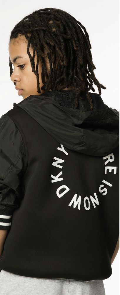 c409158d1 DKNY Boys Future is Now Black Lightweight Jacket for Spring Summer ...