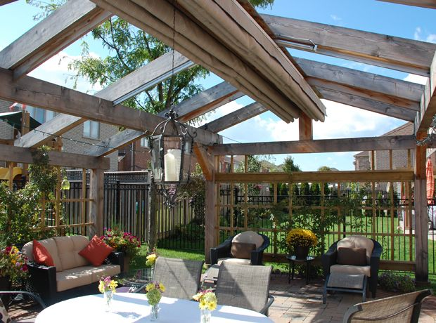 Pitched Retractable Canopy in Oakville | ShadeFX Canopies