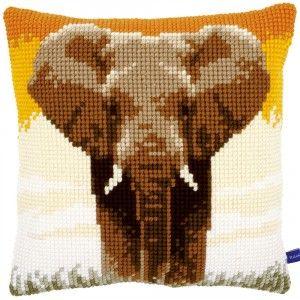 Borduurpakket olifant: kruissteek op voorgeschilderd stramien
