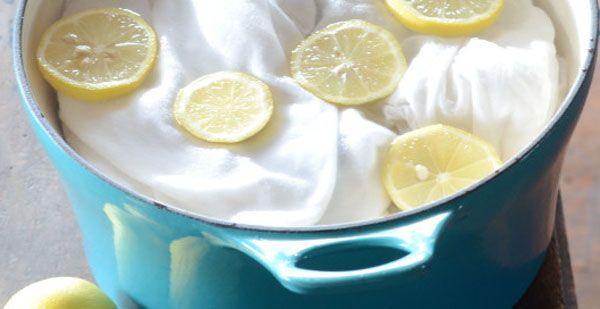 le citron blanchit le linge
