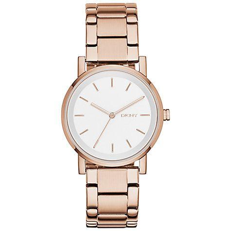 Buy DKNY NY2344 Women's SoHo Chrono Bracelet Watch, Rose Gold Online at johnlewis.com