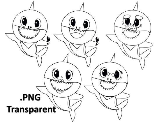 Printable Pinkfong Baby Shark Coloring Pages