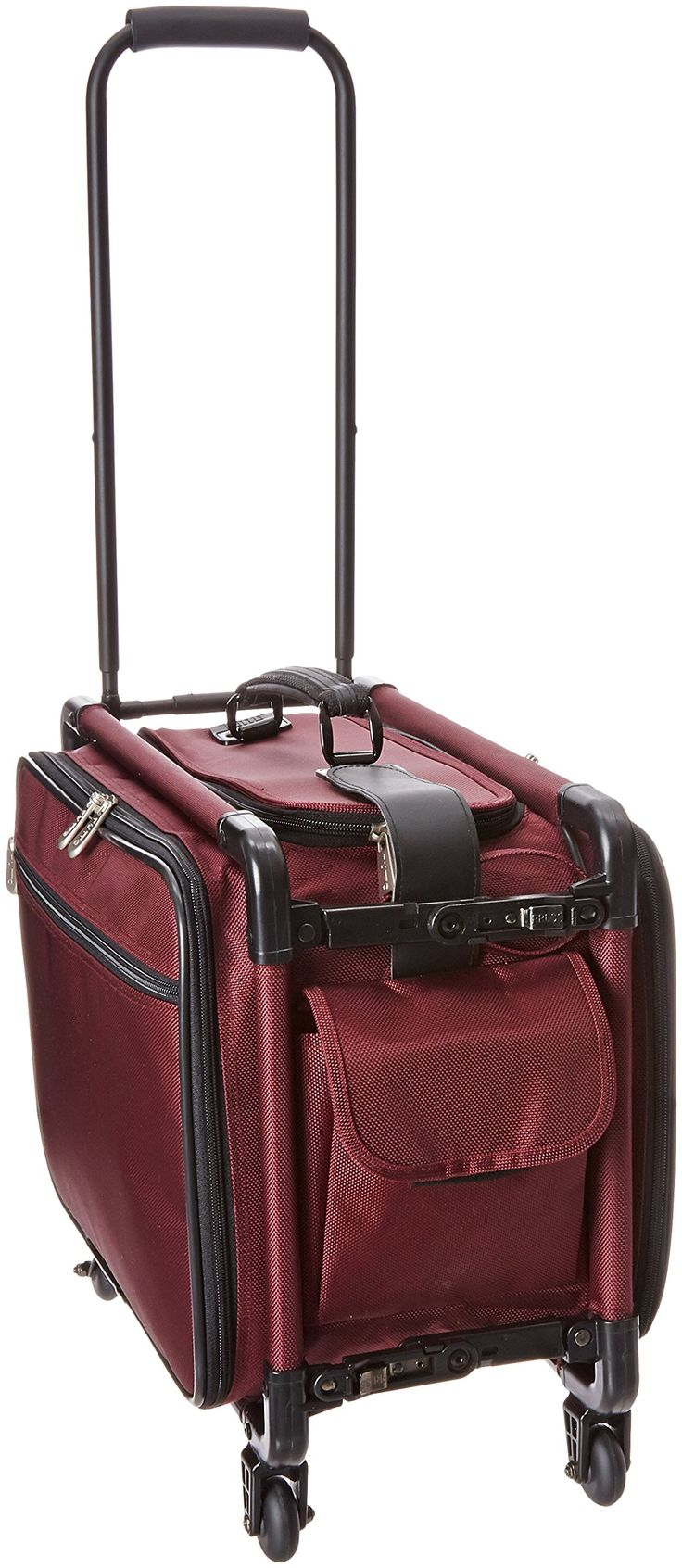 TUTTO 17 Inch Small Carry-On Luggage, Burgundy, One Size